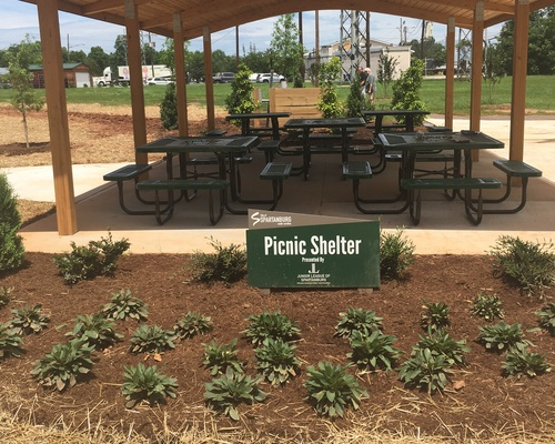 Picnic Shelter- provided by Junior League of Spartanburg & Wade's Restaurants